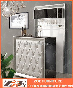 Modern Wooden Home Mini Bar Cabinet Design OW105