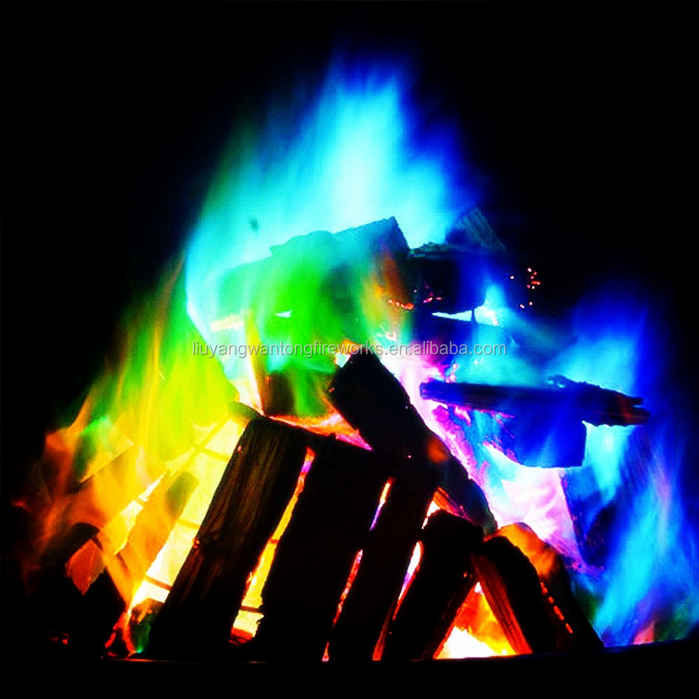 magic colorful flames mystical fire