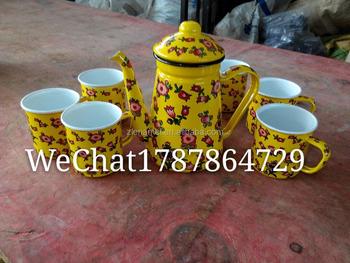 Enamel Camping Set Enamel Coffee Potteapot Mug Cup Buy Enamel