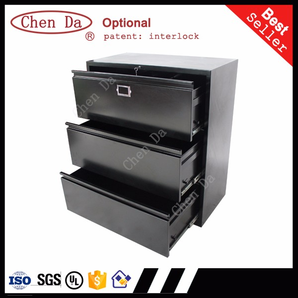 Office equipment 3 drawers metal filing <strong>cabinet</strong> with lock