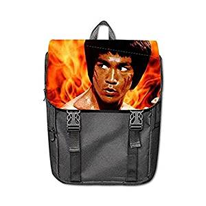 fe7e9f21a5 Get Quotations · Bruce Lee Custom Design Shoulders Backpack Students School  Bag Casual Backpack Outdoor Backpack
