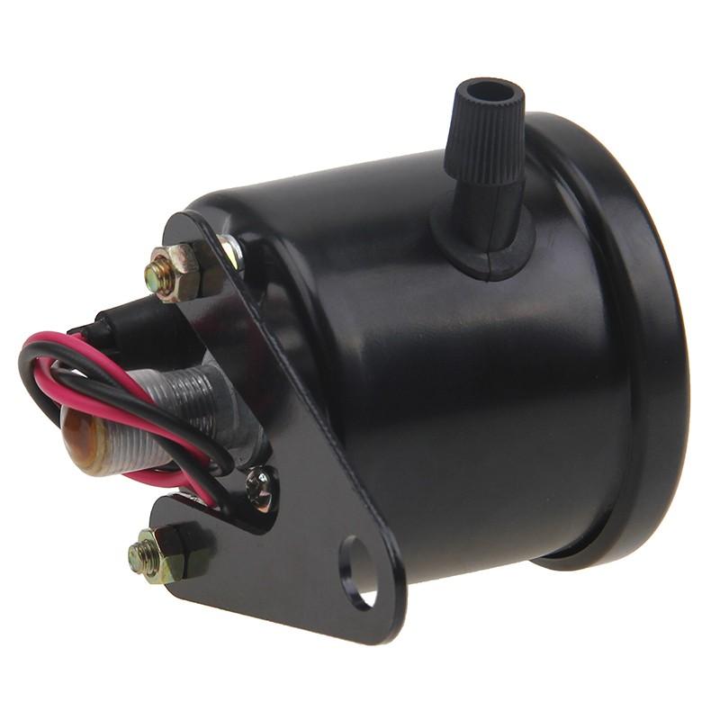 New Black Universal Motorcycle Dual Odometer Speedometer