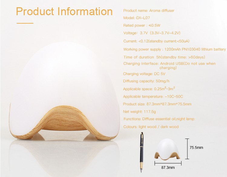 essential oil fragrance diffuser work as battery diffuser