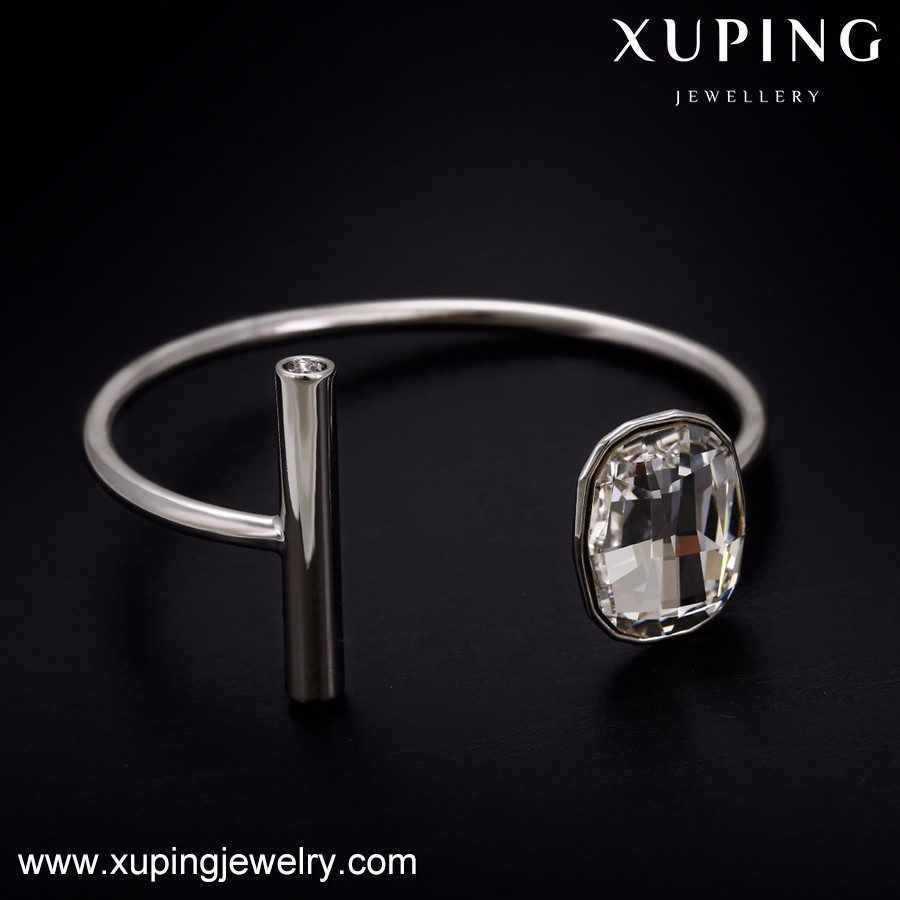 51710 Xuping clear crystals from Swarovski diamond studded gold bangle,italian jewellery,bangle bracelet