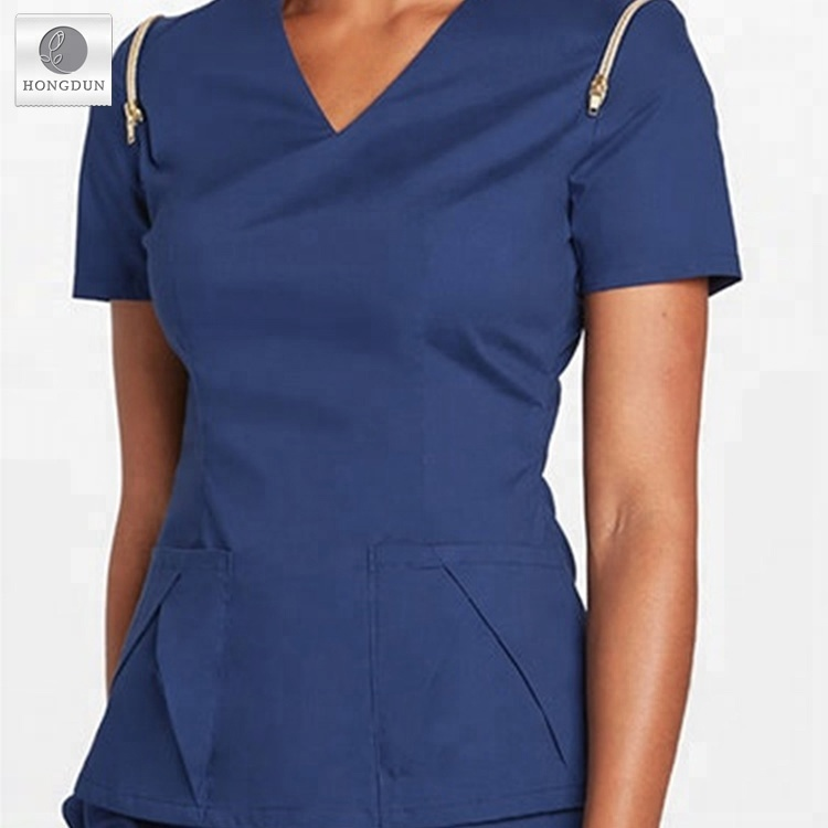 Women Nurses Medical Nursing Scrub Set Healthcare Working Clothes Tops And Pants