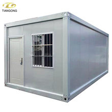 Fast construction low cost 20ft container house prefab houses