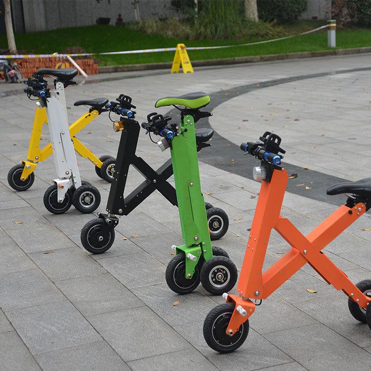 v batera de litio bicicleta elctrica plegable plegable scooter elctrico minibike para adultos