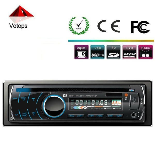 UNIVERSAL SINGLE DIN CAR DVD PLAYER WITH DVD/CD