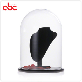 Large Glass Dome Display Case With Wood Base D30 x H43cm (D11.81x H16.93 inches)