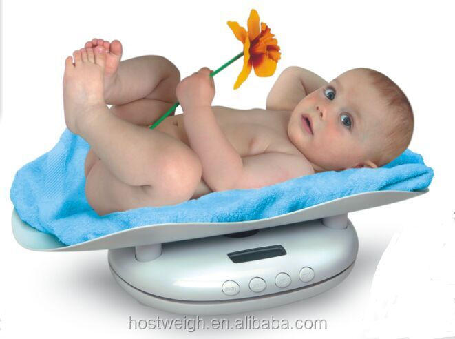 Hostweigh Hot Selling Electronic Mechanical Infant Baby Scale Digital Electronic Solid With Music and Temperature Lcd Display