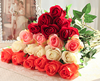 Artificial flowers silk roses for wedding ,home and party decoration