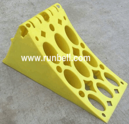 Yellow Plastic Wheel Chock for Trailer, Truck