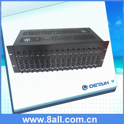 16in1 Fixed RF Adjacent Catv analog modulator with Combiner and Aluminum Chassis
