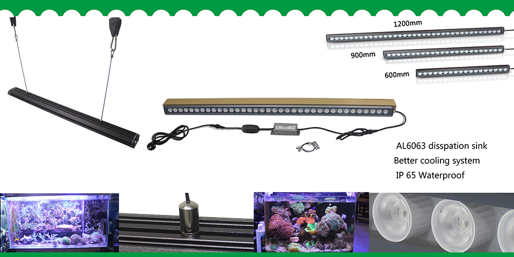 marine aquarium light fixture 120cm led aquarium light 108w with very good heat dissipation