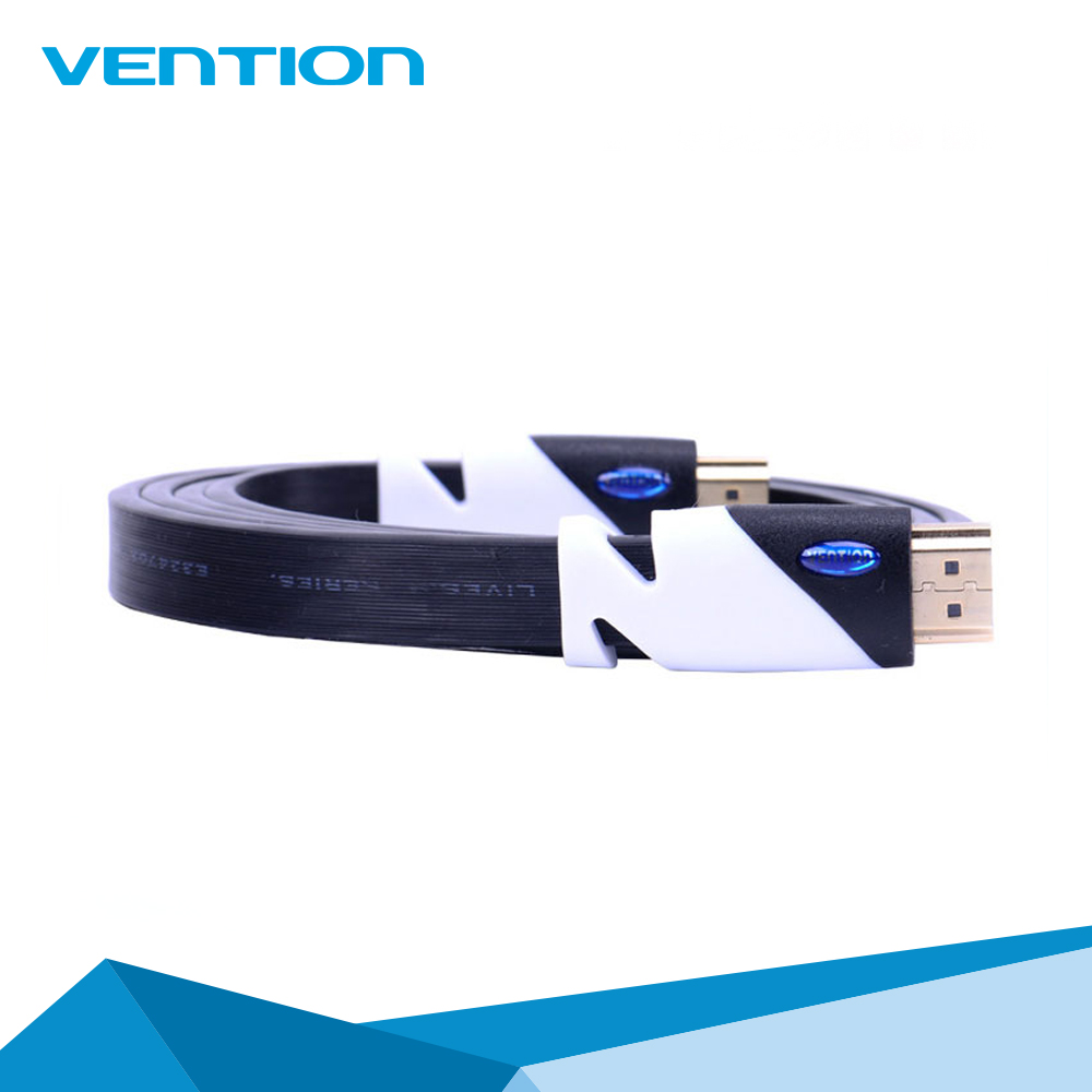 Vention Wholesale High Speed Blue Flat Gold Plated Blue 2M HDMI Cable V1.4