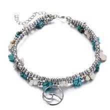 Женский однослойный браслет IF YOU, винтажный браслет на щиколотку в виде морских черепах, с цепочкой в виде стрекозы, Прямая поставка(Китай)