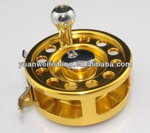 golden Aluminium fly fishing reel / pen fishing reel
