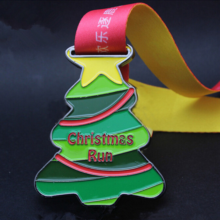 Custom New Product Ideas 2018 Soft Enamel Medals Christmas Medal