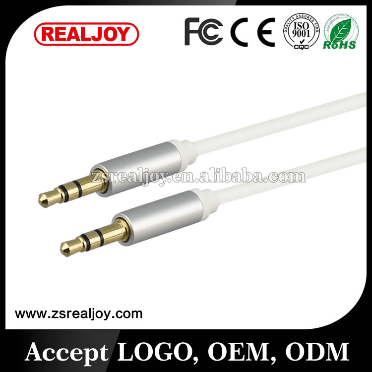 high grade ofc mini jack 3.5mm audio video aux cable