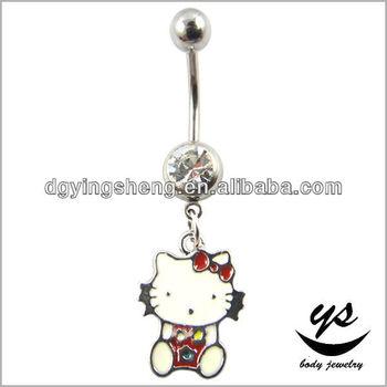 Moda Hello Kitty Anillos Del Boton De Vientre Anillo Del Vientre Del Ombligo De La Historieta Buy Product On Alibaba Com