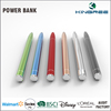 Fashion 2 In 1 ballpoint pen slim capacitive stylus pen power banks portable battery charger 650mah