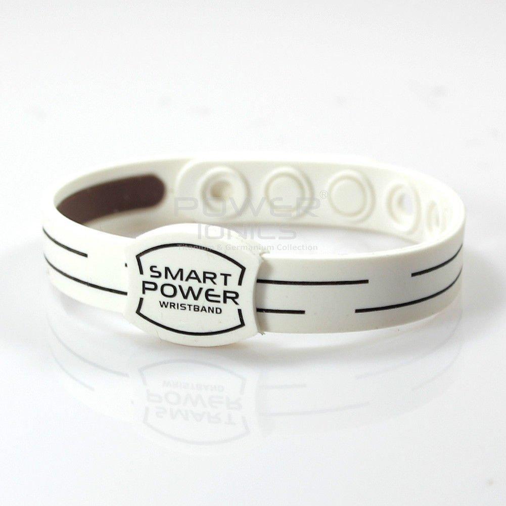 Flamboyantgoods Power Ionics Smart Bracelet Titanium Ion Band Balance Energy White