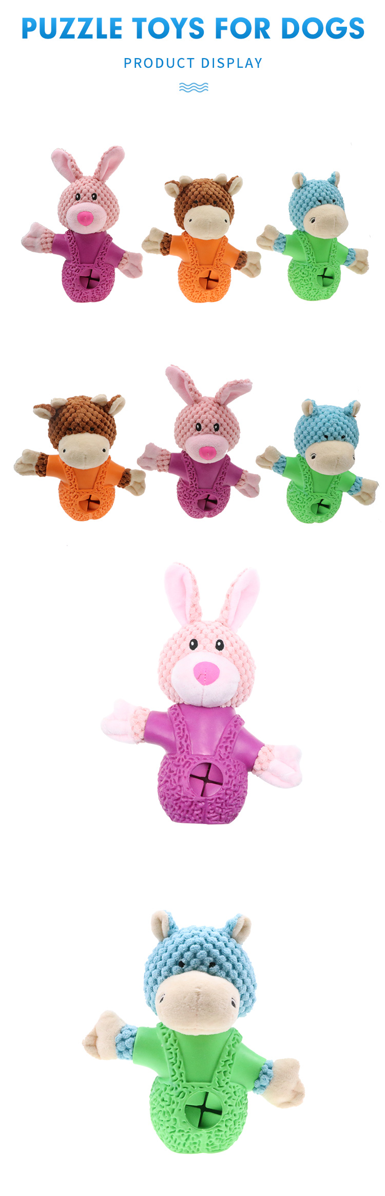 Chewing toys Wholesale Pet Products in China Rabbit-shaped plush
