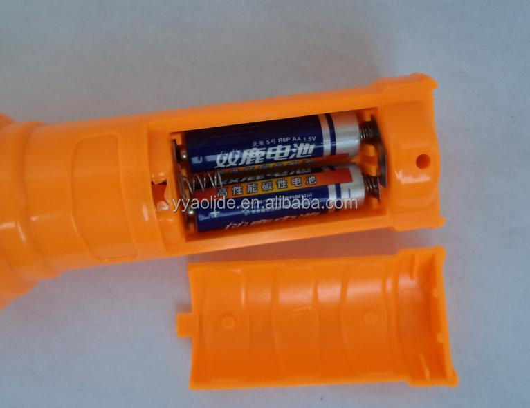 7 Led flashlight LED plastic torch 3 aa battery flash light