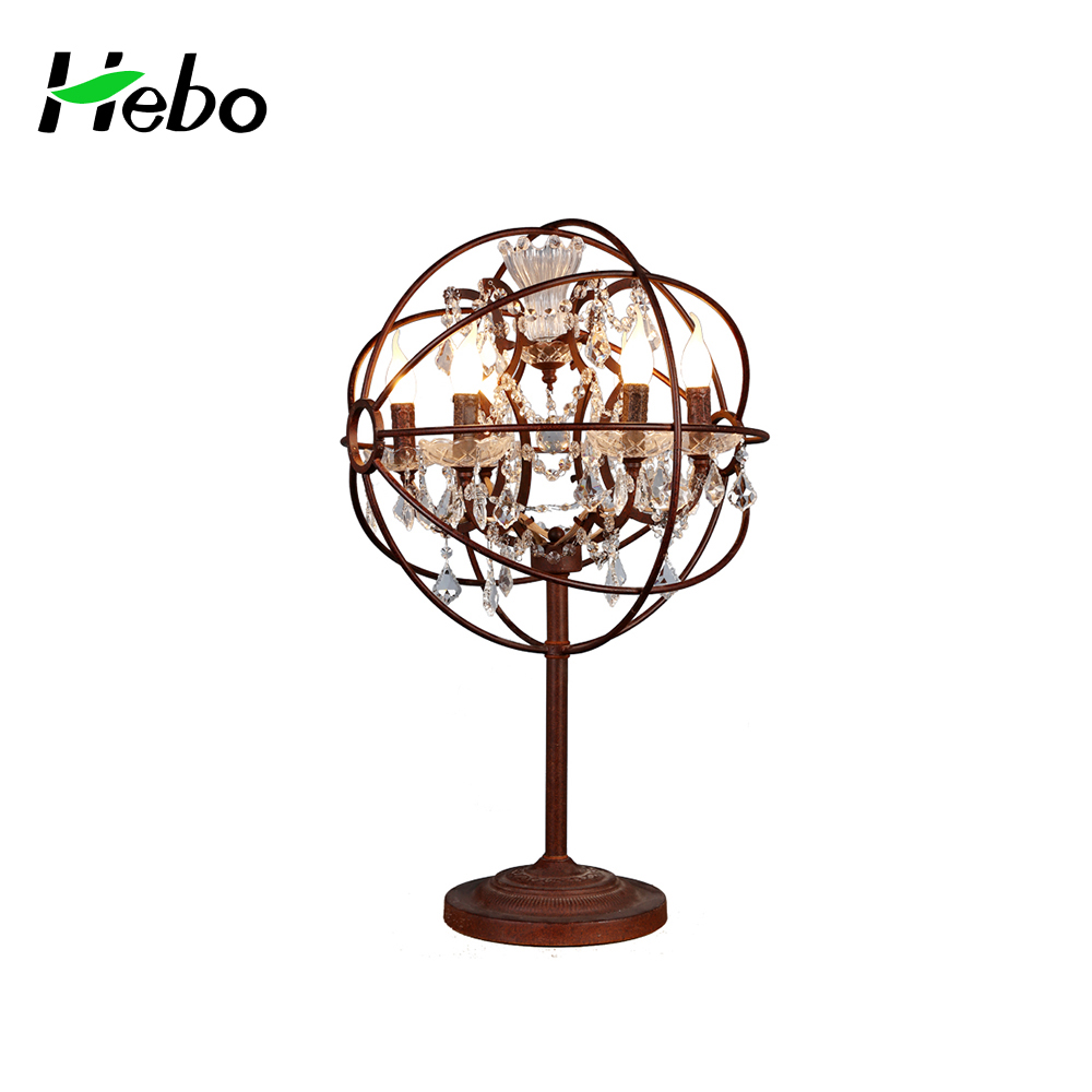 Crystal table lamp for home decor with iron wire ball shade buy crystal table lamp for home decor with iron wire ball shade geotapseo Images