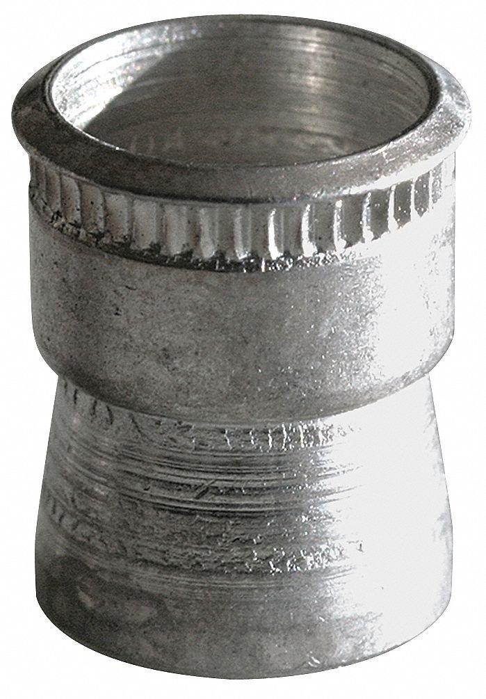 "Aluminum Knurled Rivet Nut 0.745"" L, 3/8""-16 Dia./Thread Size, 5 PK"