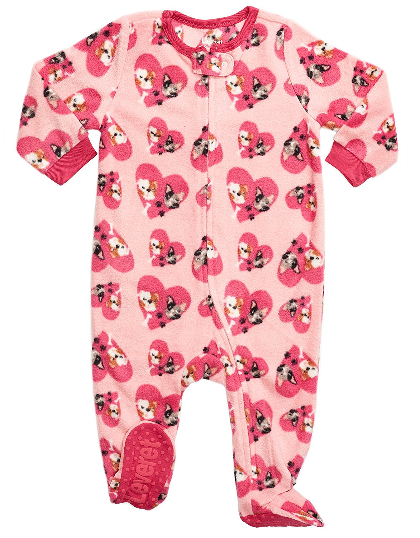 Get Quotations · Leveret Fleece Baby Girls Footed Pajamas Sleeper Kids   Toddler  Pajamas (3 Months-5 4b36c102b
