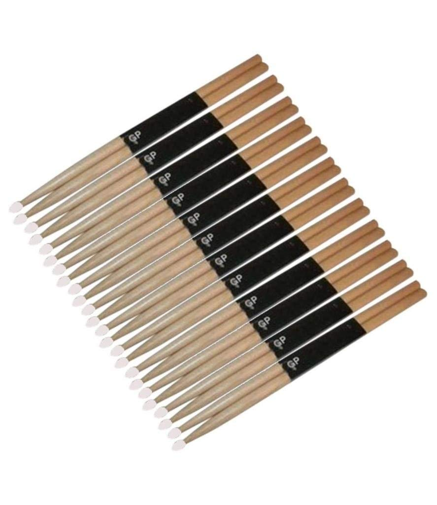 NEW Lot of 24 OAK Drum Sticks 2B Drumsticks Nylon Tip, GPDS2BN ^12