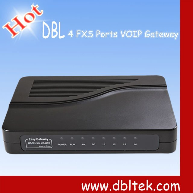 4 Channels -VoIP ATA (FXS) Gateway sip and h323