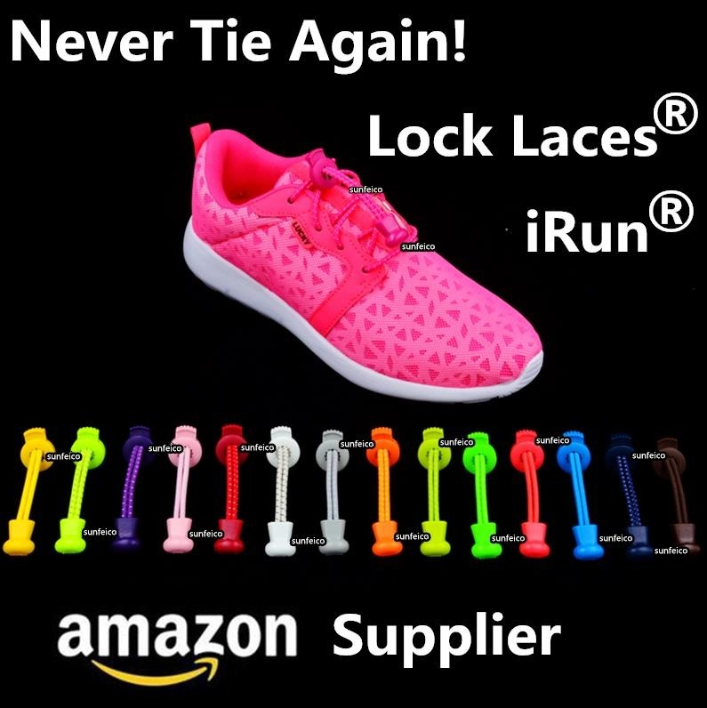 (MOQ:100pair)2017 Lock Laces for Sneakers available in 50 colors with 12 locks options+ 5 packaging options~Amazon Supplier
