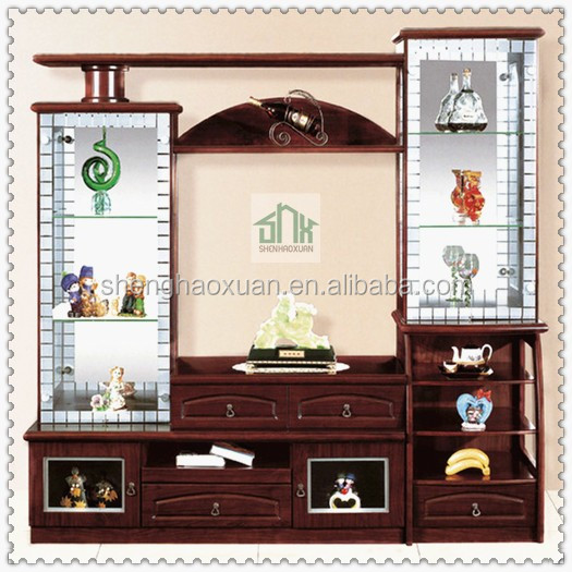 India Market Living Room Furniture Lcd Tv Wall Units 808 Design Wooden Table