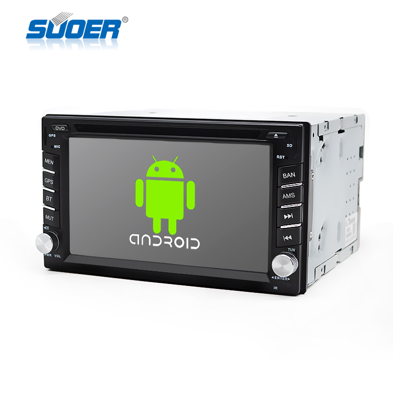 car Android DVD 6.2 inch touch screen double Din Universal Auto car dvd player with GPS navigation