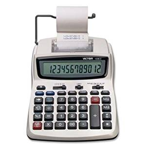 """12-Digit Calculator, 2-Color Printing, 6""""x8-1/4""""x1-3/4"""", WE, Sold as 1 Each - VICTOR TECHNOLOGY 12-Digit Calculator, 2-Color Printing, 6""""x8-1/4""""x1-3"""