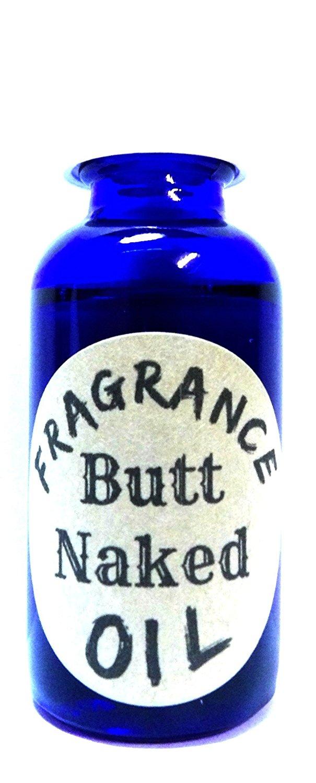 Butt Naked 1oz / 29.5ml Cobalt Blue Glass Bottle of Premium Grade Fragrance Oil - Skin Safe Oil, Soaps, Lotion, Bath Bombs & More