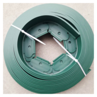 Plastic Safest flexible lawn edging sturdy landscape border coil with fixing nail device