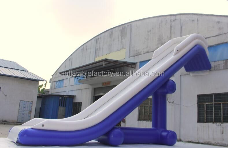 inflatable yacht boat water slide, inflatable dock slide for sale
