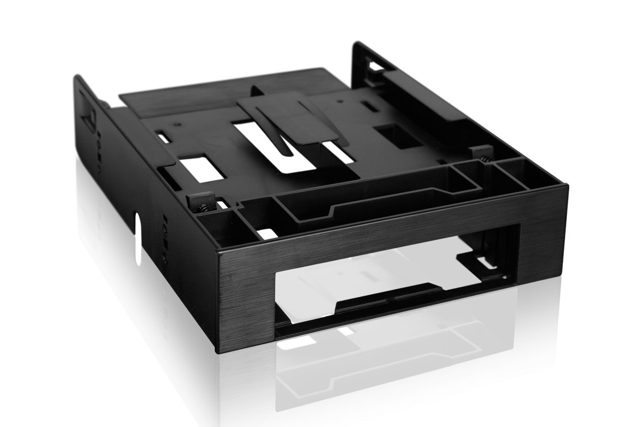 ICY DOCK Dual 2.5 SSD 1x3.5 HDD Device Bay to 5.25 Drive Bay Converter/ Mount / Kit / Adapter - FLEX-FIT Trio MB343SP