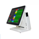 Factory promotion 15 inch pos system multi-point touch all in one pos built-in VFD customer display for bakery/coffee shop