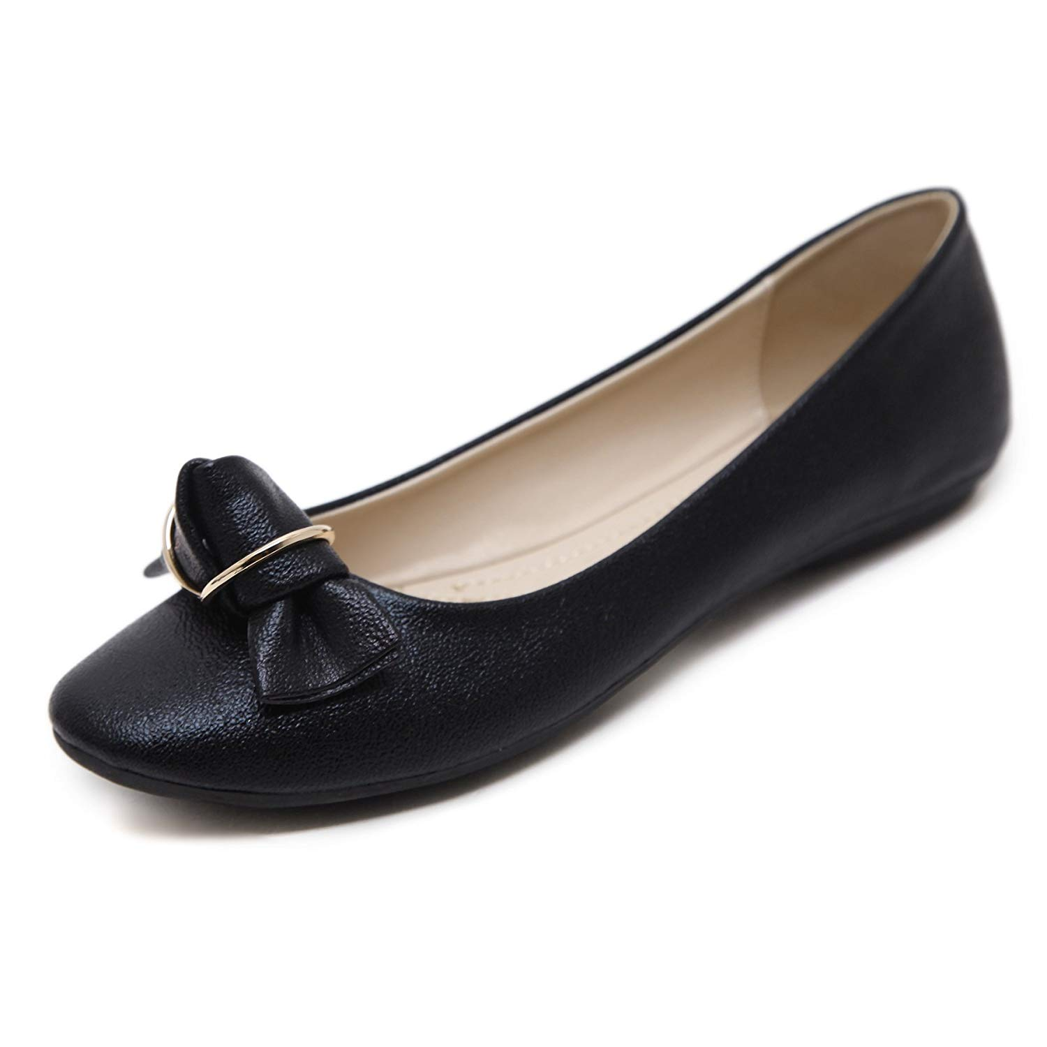 315d54313ae Get Quotations · Meeshine Women s Ballet Flats Comfort Slip On Fashion  Dress Shoes