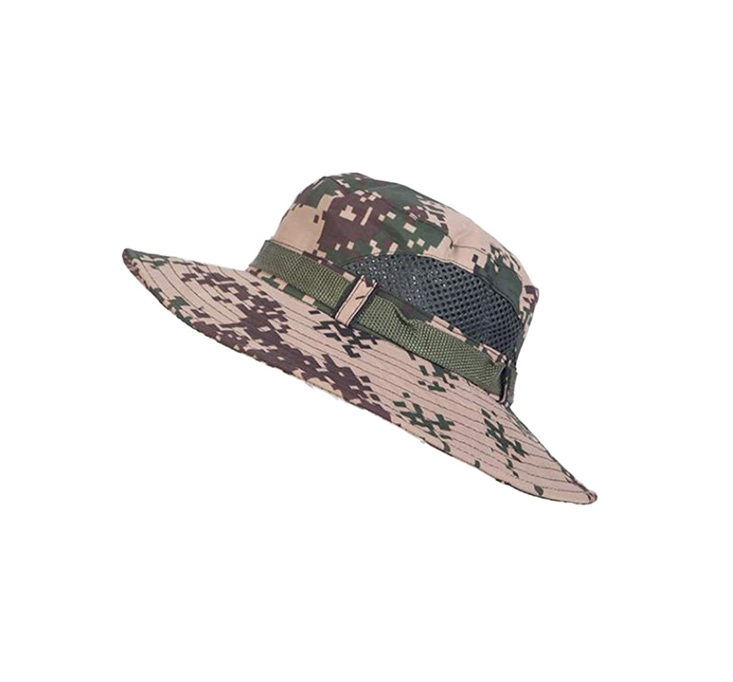 adcd1853c Get Quotations · 4URNEED Camo Mens Wide Brim Outdoor Sun-Hats Fishing Hats  Hunting Hats Safari Summer Hat