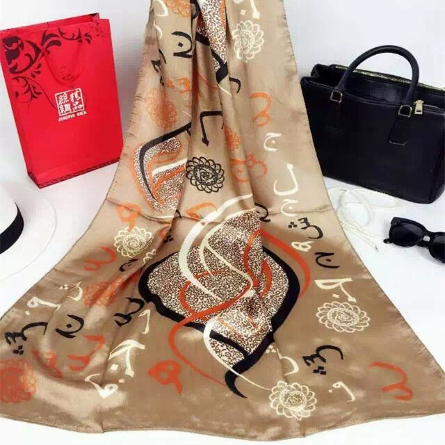 Stock cheap digital print silk women hot arab Yiwu hijab scarf