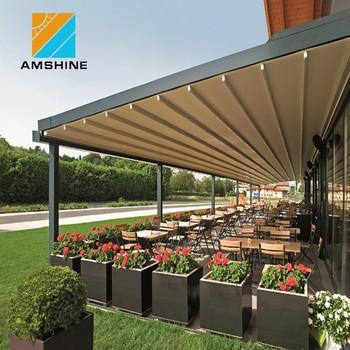 Aluminum Rainproof Retractable Folding Pergola Sun Shades ...