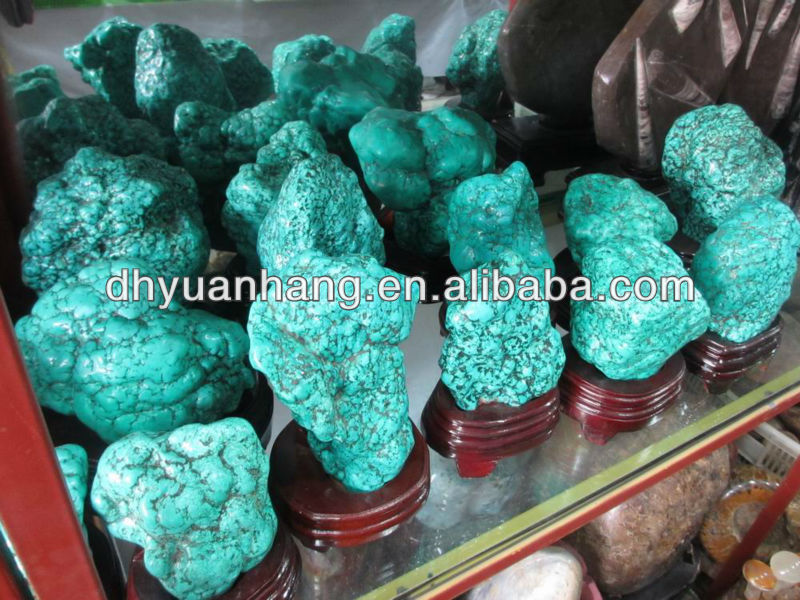 Natural green rough turquoise stones,large turqoise raw stones for decoration