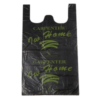 LLDPE With Custom Logo Eco Friendly Small Degradable Mini Beach Heavy Duty Black Packing Plastic Bags