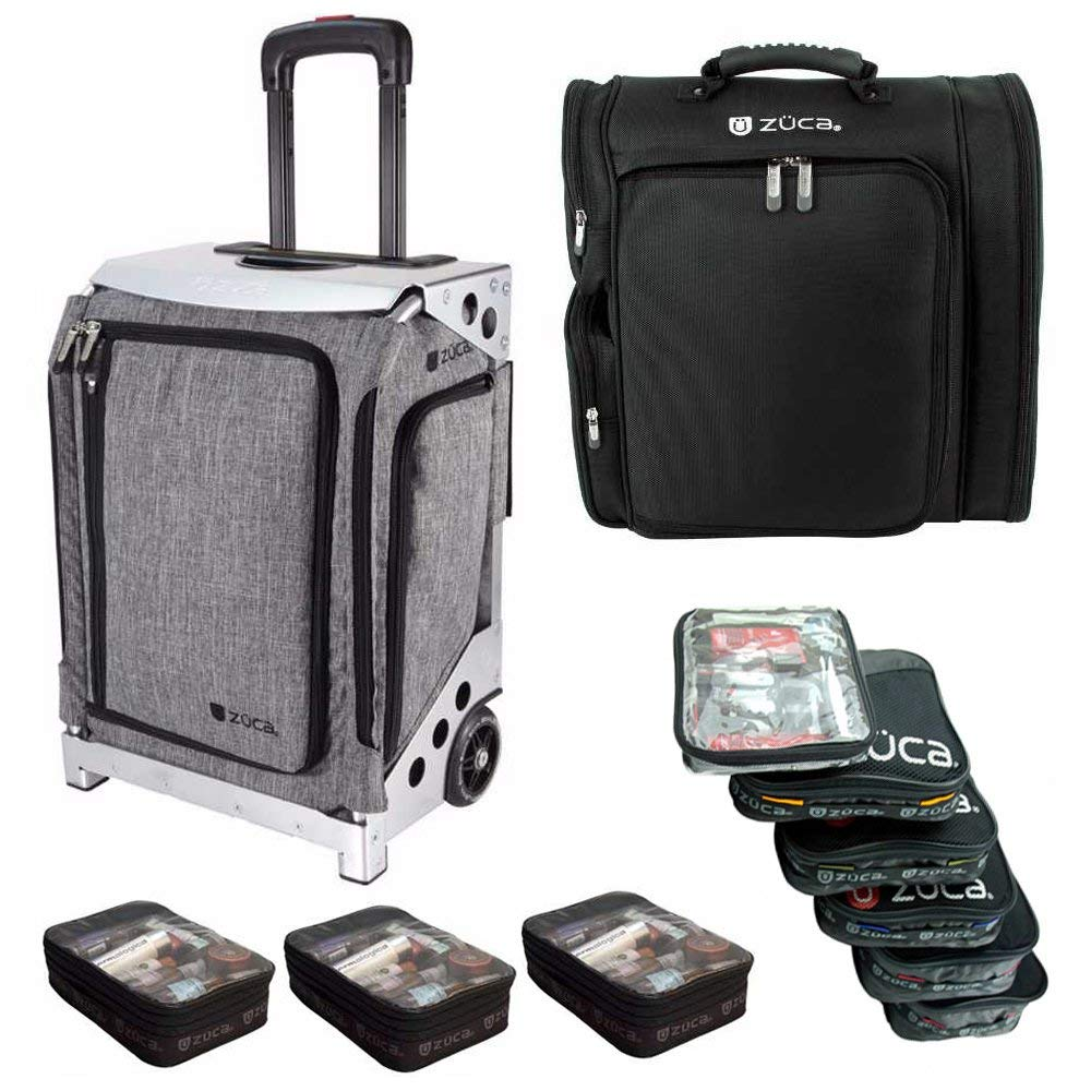 ZUCA Artist Navigator Flyer Bag (Silver Frame) + 5 Stacking Pouches + Artist Backpack + Three Extra Pouches
