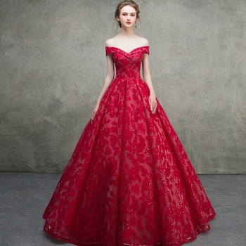 1e323a4f8f2 2018 Classic Noble Attractive Backless Evening Gown Custom Tulle Ball Gown  Red Train Wedding Dress Bridal